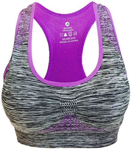 Vermilion Bird Women's Seamless Sports Bra High Impact Pocket Yoga Bras