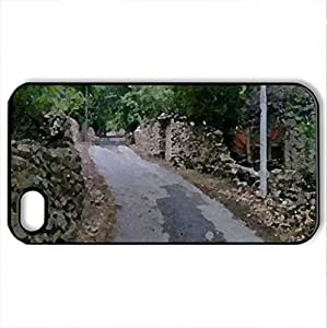 Chimeh Village - Case Cover for iPhone 4 and 4s (Bridges Series, Watercolor style, Black)