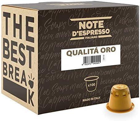 Note D'Espresso Qualità Oro Caffè in Capsule esclusivamente Compatibili con Sistema Nespresso* – 560 g (100 x 5.6 g)