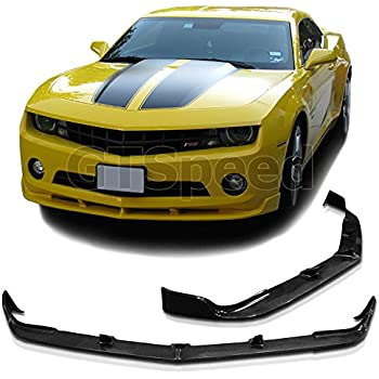 Z28 Look Style Unpainted PU Air Dam Chin Protector Front Bumper Lip by IKON MOTORSPORTS 2011 2012 Front Bumper Lip Compatible With 2010-2013 Chevy Camaro V8