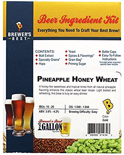 Brewer's Best One gal Home Brew Beer Ingredient Kit (Pineapple Honey Wheat)