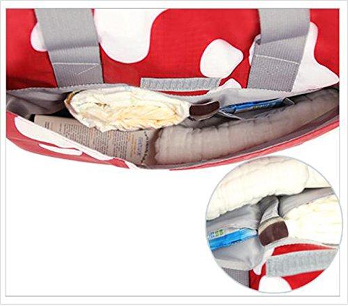 Bolso de la mamá de la capacidad grande, bolso, hombro multi-funcional a ser producido paquete, bolso de la botella de bebé de la madre, sale el bolso ( Color : Beige ) Gris