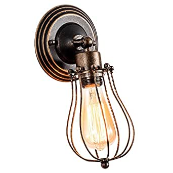 Vintage Wall Light Adjustable Industrial Wall Sconce Retro Indoor Wall Lighting Fixture(Single Lamp Base, Oil Rubbed Bronze)