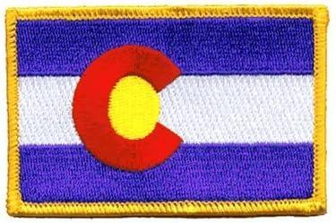 Parche de velcro de la bandera del Estado de Colorado, táctico, por Backwoods Barnaby (2