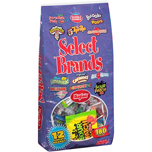 Mayfair Swedish Fish, Dubble Bubble, Bazooka, Wareads, Tiger Pops, Lemonhead, Goetze's, Airheads, Big League, Smarties & Sour Patch Kids Select Brands Candy Variety Pack 180 ct Bag (Candy Tiger)