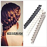 2PC Random Color Wonder French Magic Hair Clip Braider Braid Stylist Queue Twist Plait Hair Braiding Tool Holder Roller DIY Bun Maker Hairstyle Styling Accessory Fashion Salon (Style 3)