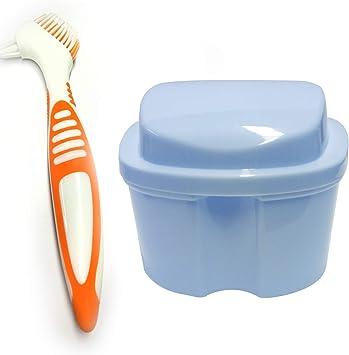 ZJW Estuche para Dentadura, Caja para Baño de Dentadura para Taza de Dentadura con Cepillo de Limpieza, año para Dentadura para Limpieza de Retenedores: Amazon.es: Salud y cuidado personal