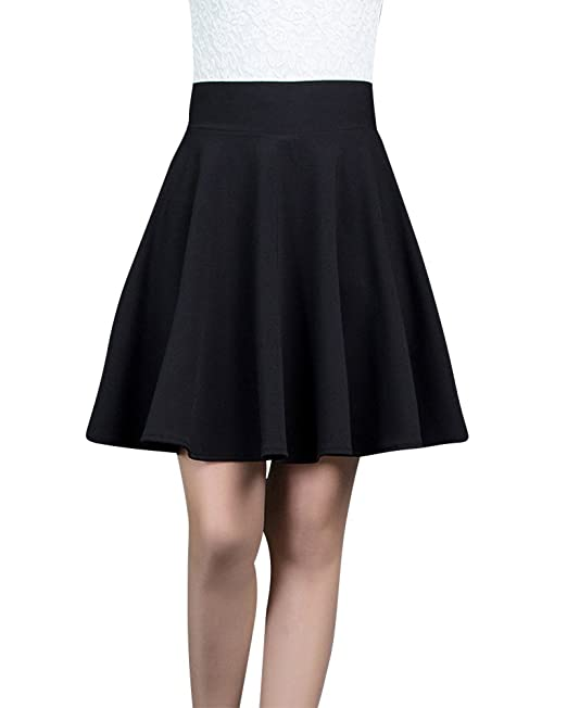ZiXing Faldas Plisada Corta Mujer Elástica Básica Sólidas Multifuncional Corto  Falda  Amazon.es  Ropa y accesorios 5315bd41cb06