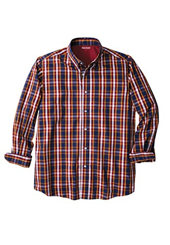 Kingsize Mens Wrinkle Resistant Plaid Shirt