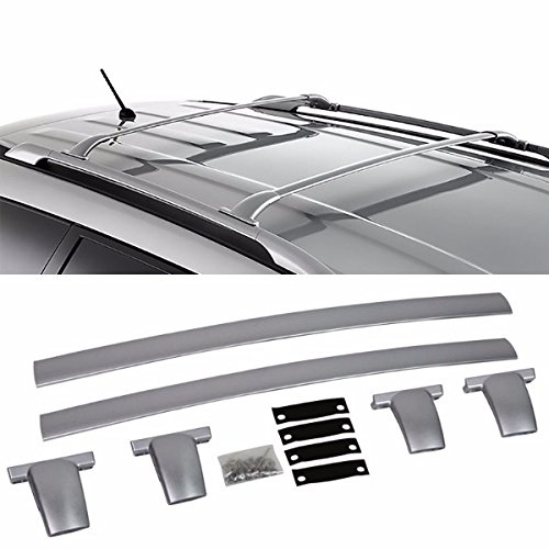 Silver Aluminum Roof Rack Crossbar Top Luggage/Bag Cargo Rail for Nissan 13-15 Pathfinder