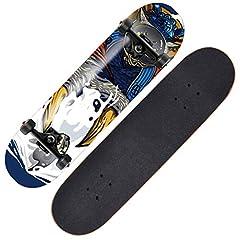Name: Skateboard       Style: A, B, C, D, E, F       Pattern process: thermal transfer       Sandpaper material: non-slip sandpaper       Skateboard material: 7 layers of hard rock maple       Bearing: ABEC-9 bearing       Bracket: 5-i...