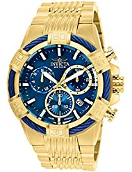 Invicta Mens Bolt Quartz Stainless Steel Casual Watch, Color:Gold-Toned (Model: 25866)