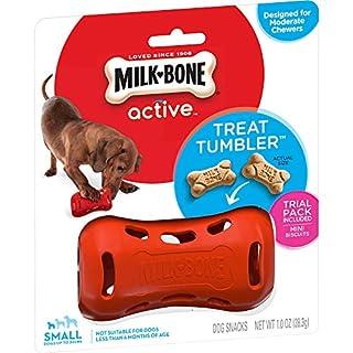 Milk-Bone Active Treat Tumbler, Interactive Dog Treat Dispensing Dog Toy for Small Treats