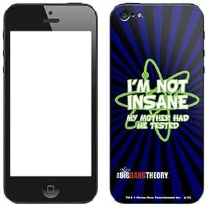 Zing Revolution The Big Bang Theory Premium Vinyl Adhesive Skin for iPhone 5, I'm Not Insane (MS-TBBT210318)