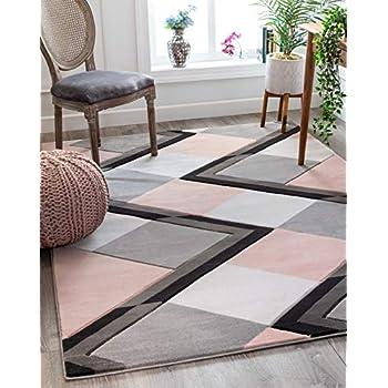 Amazon Com Well Woven Mandy Blush Pink Modern Geometric