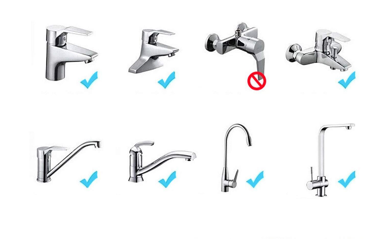 3 engrenages r/églables A/érateur de robinet anti-/éclaboussures t/ête pivotante /à 360/° robinet /économiseur deau pour cuisine bain et douche