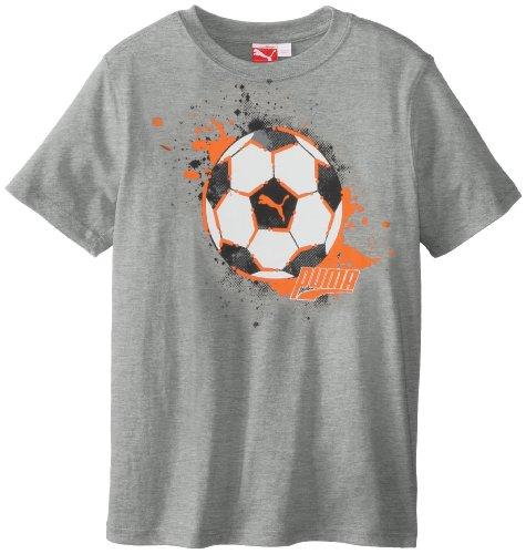 Puma - Kids Boys 8-20 Soccer Splat Tee, Heather Grey, Medium