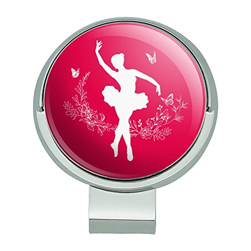 - GRAPHICS & MORE Ballerina Silhouette with Butterflies Golf Hat Clip with Magnetic Ball Marker