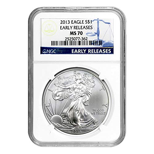 2013 Silver Eagle Early Releases $1 MS-70 NGC