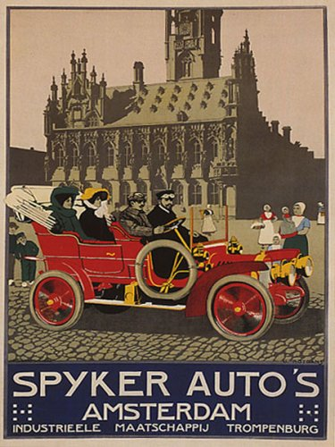 spyker-auto-car-amsterdam-holland-netherlands-12-x-16-vintage-poster-repro
