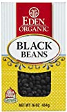 Beans, 95% organic, Black, Dry, 16 oz 16 Ounces (pack of 12 )