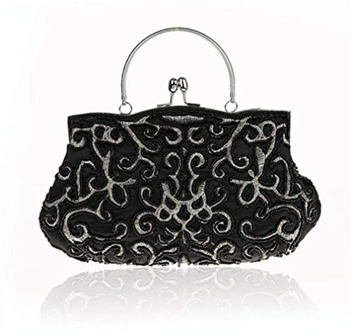 Picture Clutch Noble Beaded New Beaded Bag Evening Sided Two Bags Vintage NEW Fashion Exquisite WY12 As Pearl Elegant 0qvqpTOwR