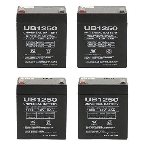 12V 5AH SLA Battery for Liebert PowerSure Personal PSP 300 - 4 Pack