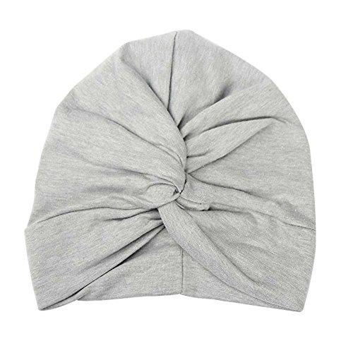 BAOBAO Cotton Baby Girls Toddler Infant Twist Knot Turban Indian Cap Beanie Hat
