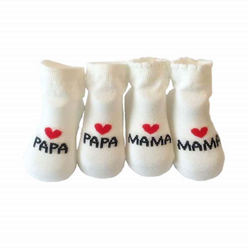 Newlemo Chaussettes antidérapantes pour bébés de 0 à 12 mois pour bébés filles en bas âge, 2 paires de chaussettes de coton mignonnes avec boîte-cadeau