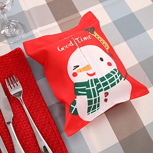 Christmas Gift Bags with Tissue Paper Bundle Towel Decoration Fabric Bag Cartoon Cloth Tissue Box (C) by baskuwish Christmas Decor (Image #3)