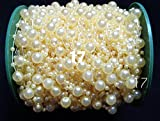 Craft Beaded Trims Pearl Plastic Beads Chain Garland Ttrimming Wedding Fishing Line Table Hall Candles Vases Cake Stands Flower Craft Decoration Accessory 8mm X 3mm 2 yard 1 Pcs (17)
