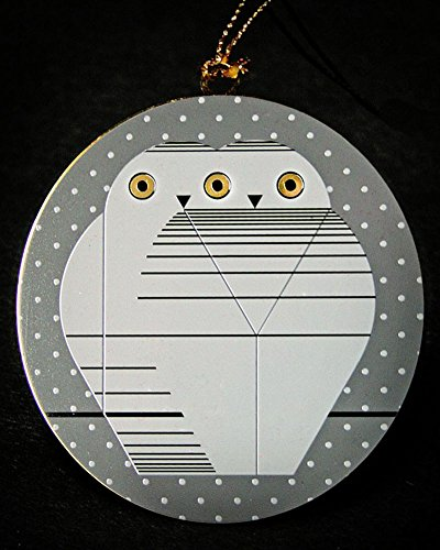 Charley Harper Brass TWOWLS – Christmas Ornament Adornment - Ornament Great