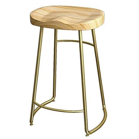 Wondrous Amazon Com 29 5 Inch Metal Leg Bar Stool Pub Solid Wood Pdpeps Interior Chair Design Pdpepsorg