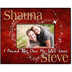 "Personalized Soul Mates Picture Frame, Holds a 3.5"" x 5"" or 4"" x 6"" Photo"