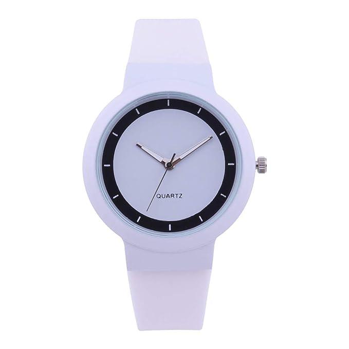 DressLksnf Reloj Lujo Moda de Mujer Pulsera Deportiva Acero Inoxidable Durable Correa de Caucho Digital Clásico Banda de Reloj Cadena Ajuste Simple ...