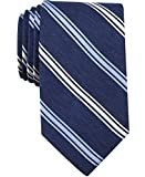 Nautica Bilge - Corbata de rayas para hombre, Azul Pizarra, Talla única