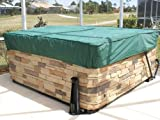 Covermates - Square Hot Tub Cover - Cap 84W x 84D x 14H - Classic Collection - 2 YR Warranty - Year Around Protection - Green