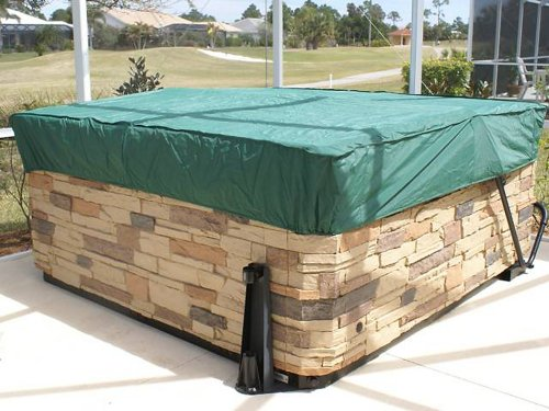 Covermates - Rectangular Spa Cover - Cap 92W x 82D x 14H - Classic Collection - 2 YR Warranty - Year Around Protection - Green