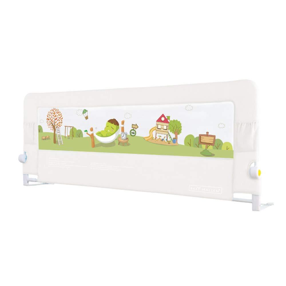 LHA ベッドガードフェンス 子供のフェンスは、落ち着いたベッドサイドバッフルを防止する120/150/180 / 200cmベッドユニバーサルベッドレール(高さ66cm) (色 : 白, サイズ さいず : L-180cm) L-180cm 白 B07HGQC3RV