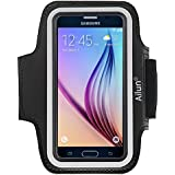 Galaxy S6 Armband,by Ailun,Samsung Galaxy S6/S6 edge Armband,Feartured with Sport Scratch-Resistant Material,Slim Lightweight,Dual Arm-Size Slots,Sweat Resistant&Key Pocket,with Headphone Port[Black]