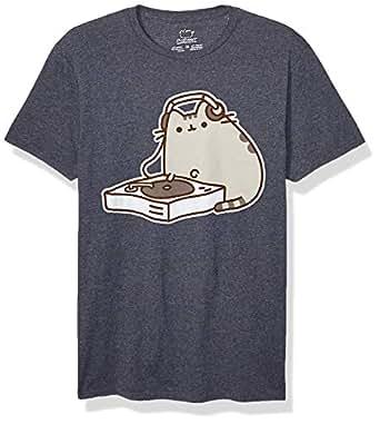 Pusheen Men's Dj T-Shirt, Gray, Small