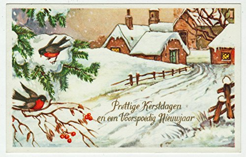 Merry Christmas and Prosperous New Year Vintage Original Postcard #0233 - December 23, 1976