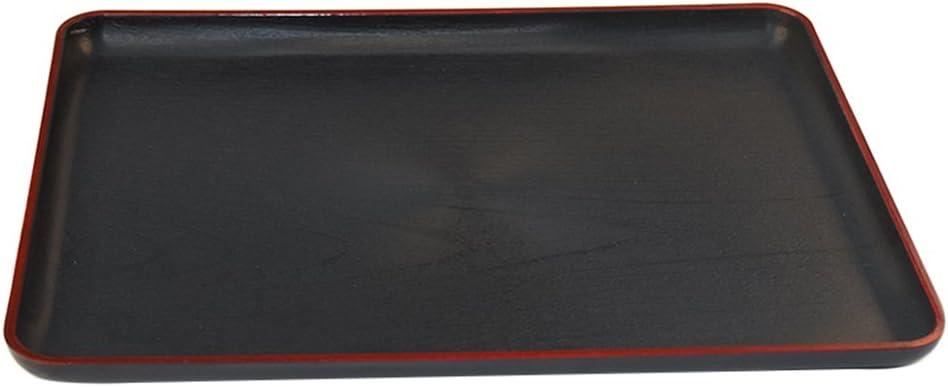 kentop Tablas para servir rectangular Bandeja Bandeja Plástico Negro