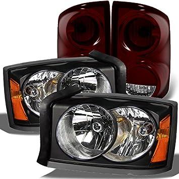 05-07 Dakota Black Halo LED Projector Headlights+Smoke Fog Lamps