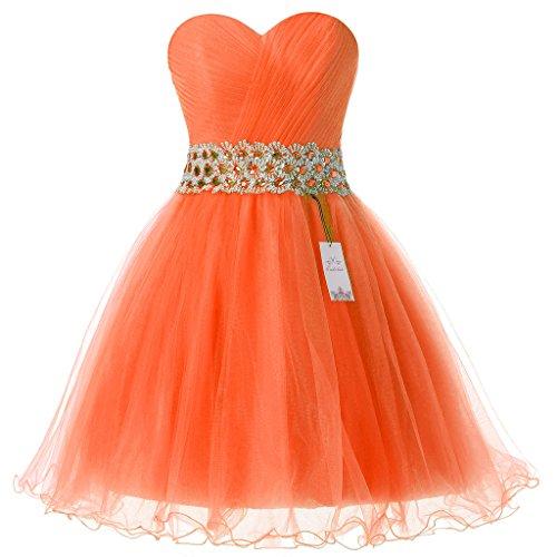 Eudolah - Vestido - Noche - para mujer naranja
