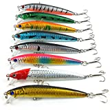 Aorace 8 pcs/Lot Fishing Lures Hard Bait Life-like Bass Pike Swimbait Shad Plastic Fishing Tackle Minnow Fishing Bait 10cm 8.5G