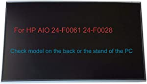 "23.8"" Touch Screen Replacement LCD LED Display Repair Panel 1920x1080 for HP Pavilion AIO 24-F0061 24-F0028 (Check Model on The Back or on The Stand of The AIO Computer) (Only for Touchscreen)"