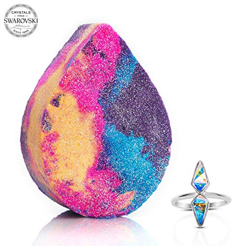 Fragrant Jewels Unicorn Tears Bath Bomb with Collectible Ring (Size 5-10)