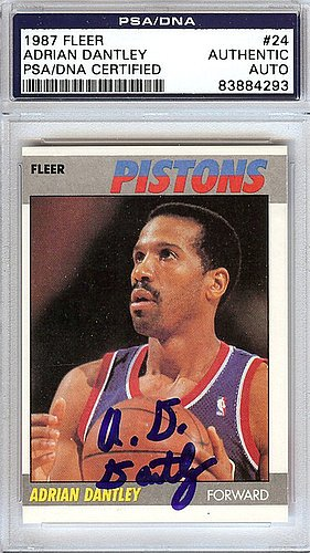 Adrian-Dantley-Signed-1987-Fleer-Card-24-Detroit-Pistons-PSADNA-Authentication-NBA-Basketball-Trading-Cards
