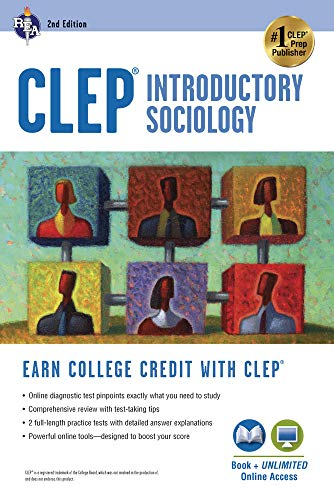CLEP® Introductory Sociology Book + Online (CLEP Test Preparation) William Egelman